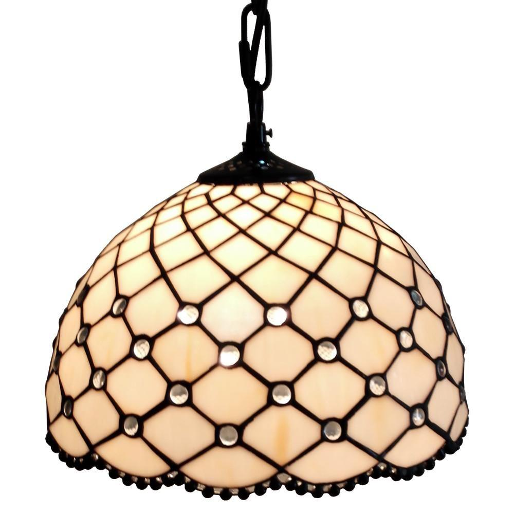amora lighting tiffany style jewel hanging lamp - Hanging Lamp