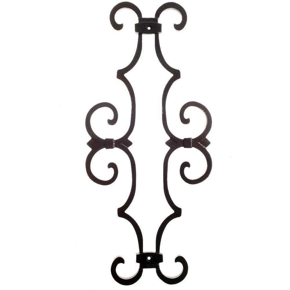 New England Classic 17 in. x 7-5/8 in. Aluminum Black Baluster Centerpiece, Black Smooth