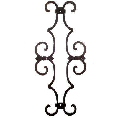 New England Classic 17 in. x 7-5/8 in. Aluminum Black Baluster Centerpiece