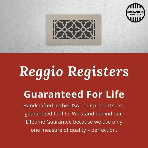 Reggio Registers Scroll Series 12 In X 12 In Aluminum Grille Gray Without Mounting Holes 1414 Anh The Home Depot