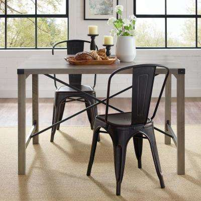 48 in. Grey Wash Industrial Farmhouse Dining Table