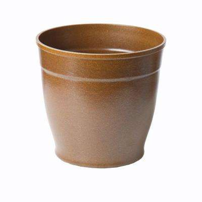 8 in. Brown Bio-Degradable Rice Hulls Patio Pot