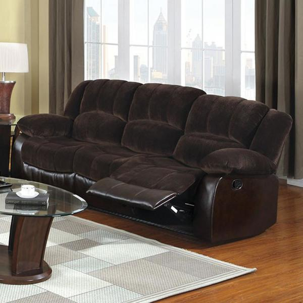 Winchester Transitional Style Brown Recliner
