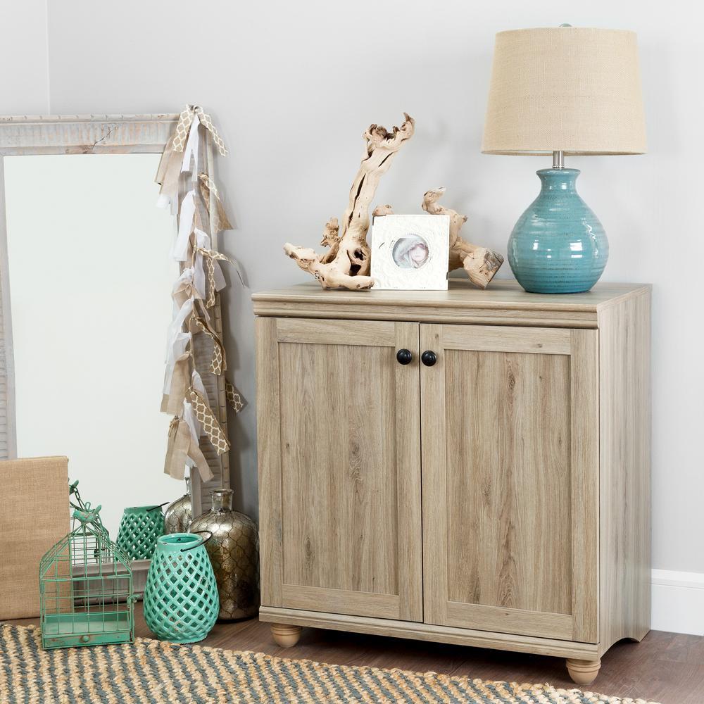 Hopedale Rustic Oak 2-Door Storage Cabinet