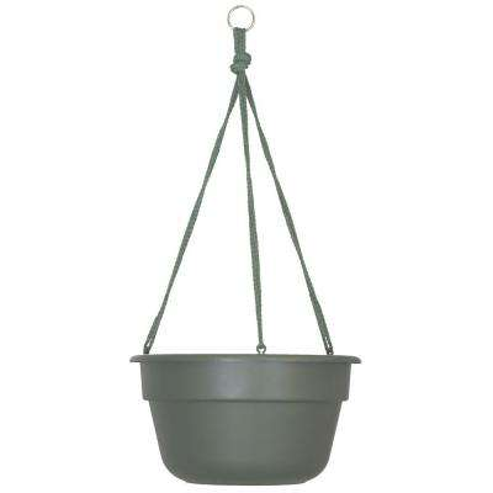 12 x 6.75 Living Green Dura Cotta Plastic Hanging Basket Planter