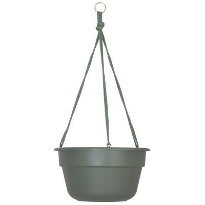 Dura Cotta 12 in. Living Green Plastic Self Watering Hanging Basket Planter