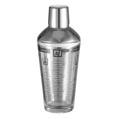 Soiree Glass 12 oz. Cocktail Shaker with Recipes