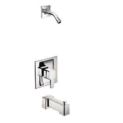 90 Degree Moentrol 1-Handle Tub and Shower Faucet Trim Kit in Chrome (Valve and Shower Head Not Included)