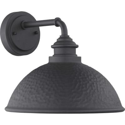 Englewood 1-Light Black Outdoor Wall Lantern Sconce