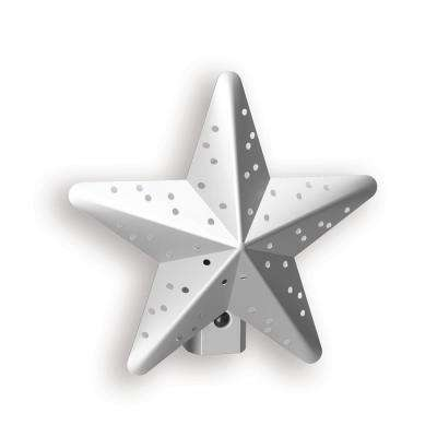 Silver Tin Star Automatic LED Night Light