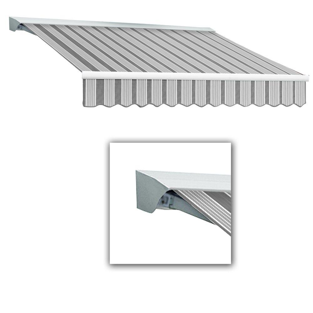 AWNTECH 18 ft. LX-Destin Left Motor Retractable Acrylic Awning with Hood/Remote (120 in. Projection) in Gun/Gray