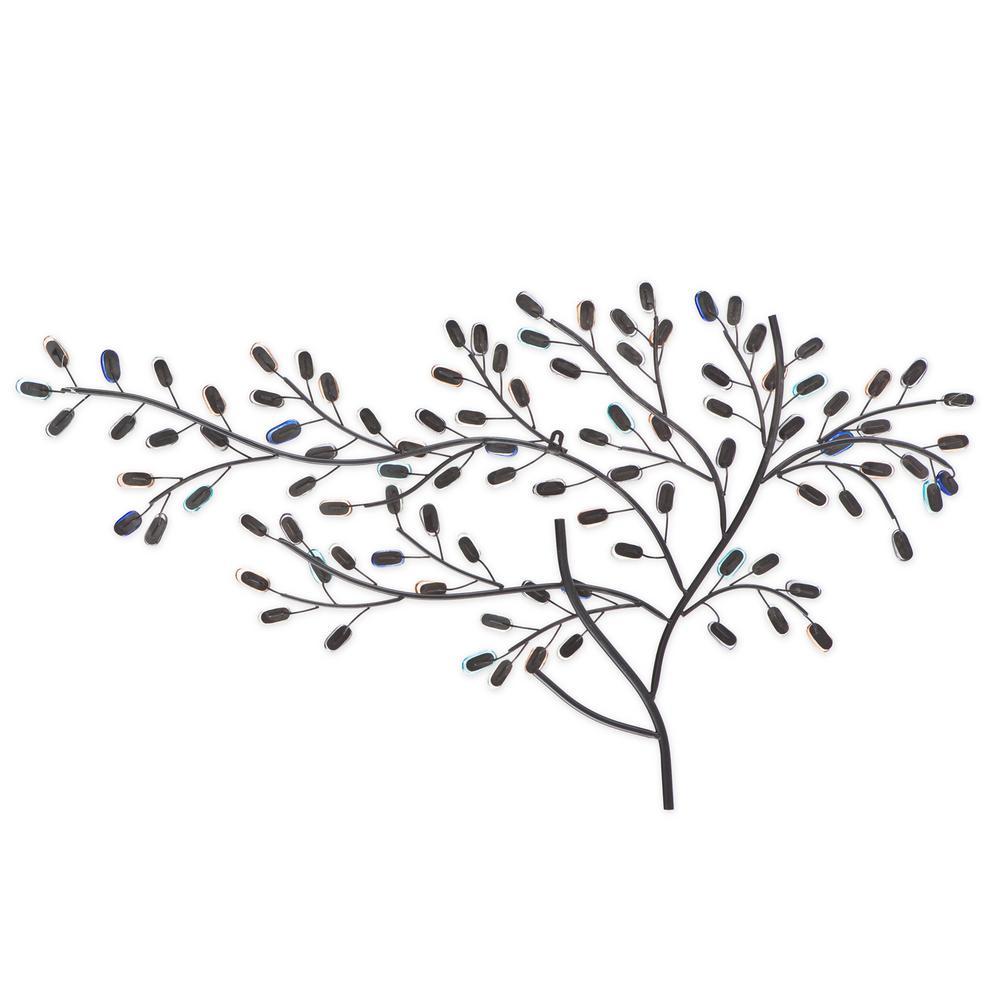 Herzer Metal/Glass Tree Decorative Wall Sculpture