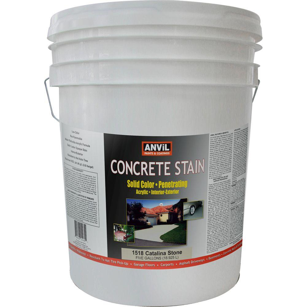 ANViL 5-gal. Catalina Stone Acrylic Solid Color Interior/Exterior Concrete Stain-DISCONTINUED
