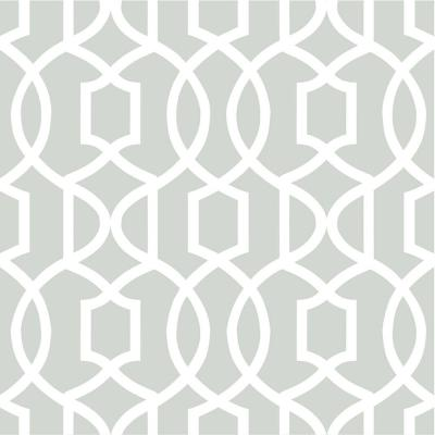 Grey Grand Trellis Peel and Stick Wallpaper Sample