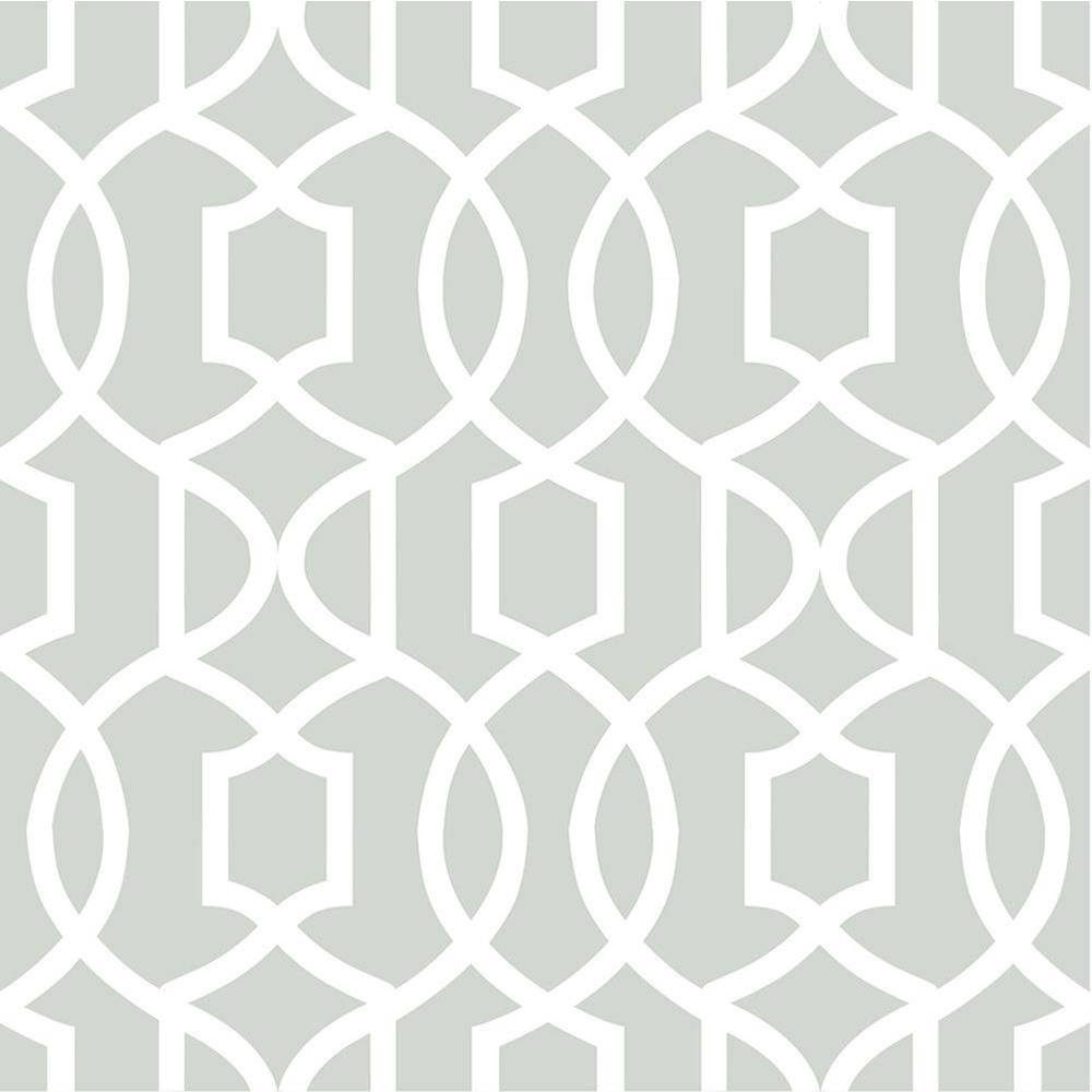 Grey Grand Trellis Grey Wallpaper Sample
