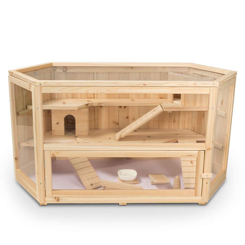Fir 3-Tier Hamster Cage