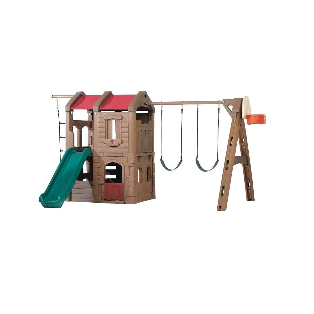 Step 2 Naturally Playful Adventure Lodge Playset, Browns/...