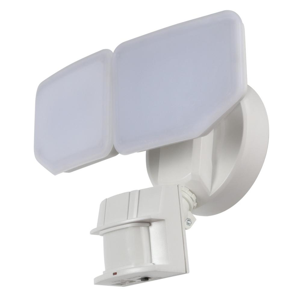 30-Watt 180-Degree White Motion Activated Outdoor Integrated LED Security Flood