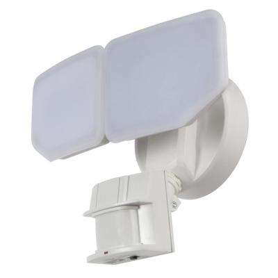 30-Watt 180-Degree White Motion Activated Outdoor Integrated LED Security Flood Light with PIR Dusk to Dawn Sensor