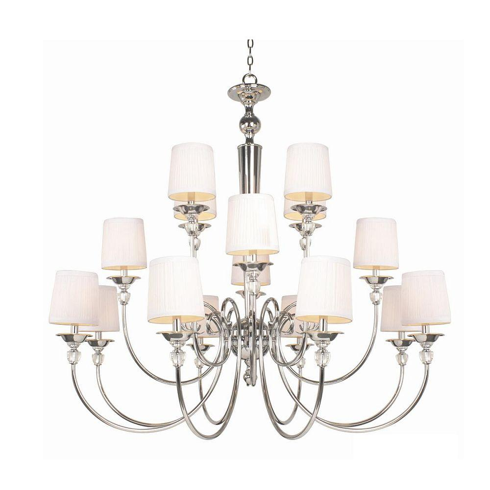Hampton Bay Locksley Collection 16-Light Chrome Chandelier-DISCONTINUED
