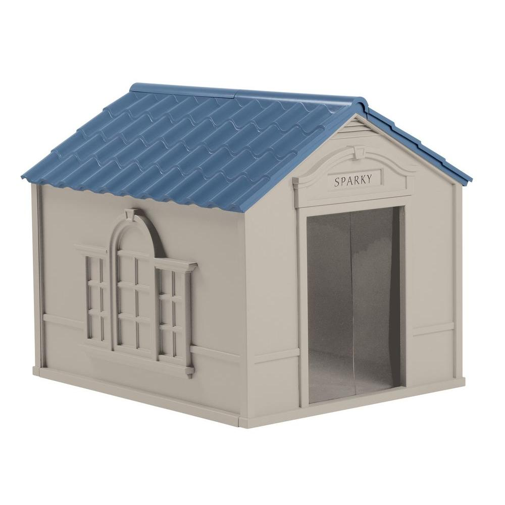 null 33 in. W x 38.5 in. D x 32 in. H Dog House