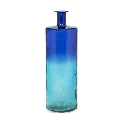 Luzon 30 in. Glass Decorative Vase in Ocean