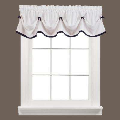 Kate 13 in. L Polyester Valance in Black