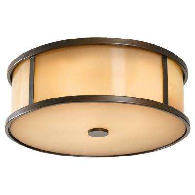 Dakota 3-Light Heritage Bronze Outdoor Ceiling Fixture