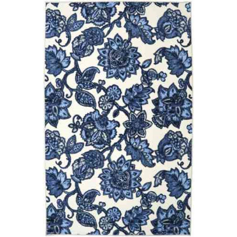 Mohawk Home Arranged Melody Blue 5 ft. x 8 ft. Indoor Area Rug