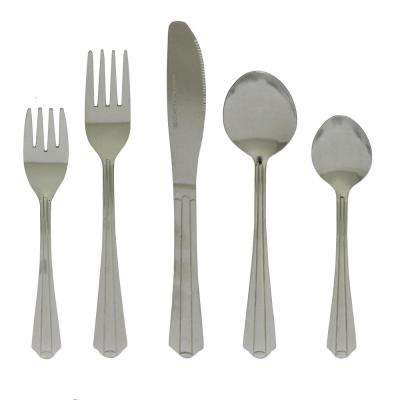 Montiero 20-Piece Stainless Steel Flatware Set