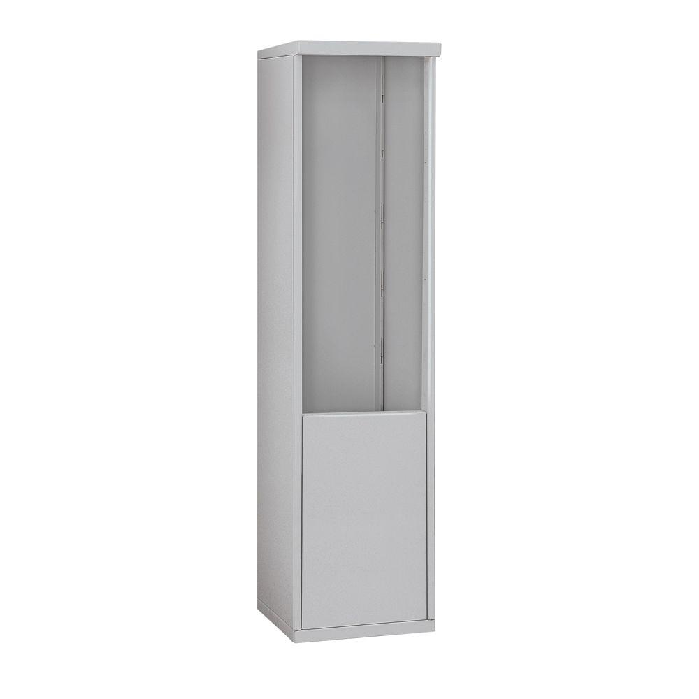 Salsbury Industries 3900 Series 17.5 in. W x 69.25 in. H x 19 in. D Free-Standing Enclosure for Salsbury 3711 Single Column Unit in Aluminum
