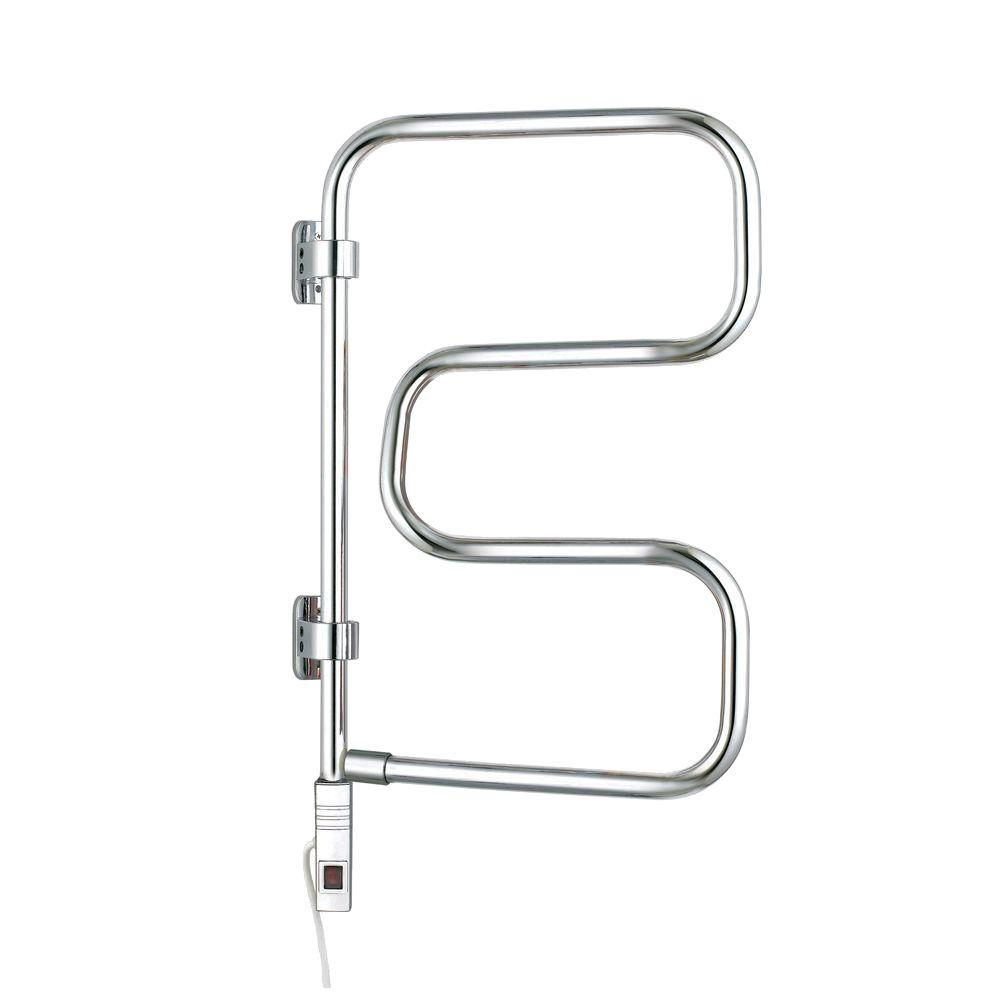 WarmlyYours Element 30 in. Towel Warmer in Chrome