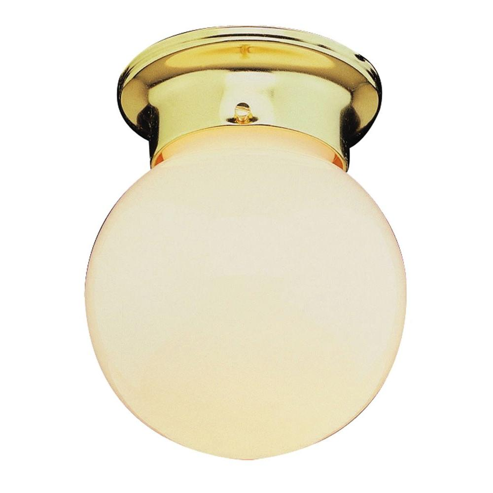 Stewart 1-Light Polished Brass Flushmount