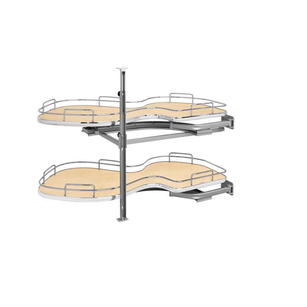 Maple Rev-A-Shelf 5372-18-R 5372 Series Right Handed Blind Corner Two Tier Base Cabine