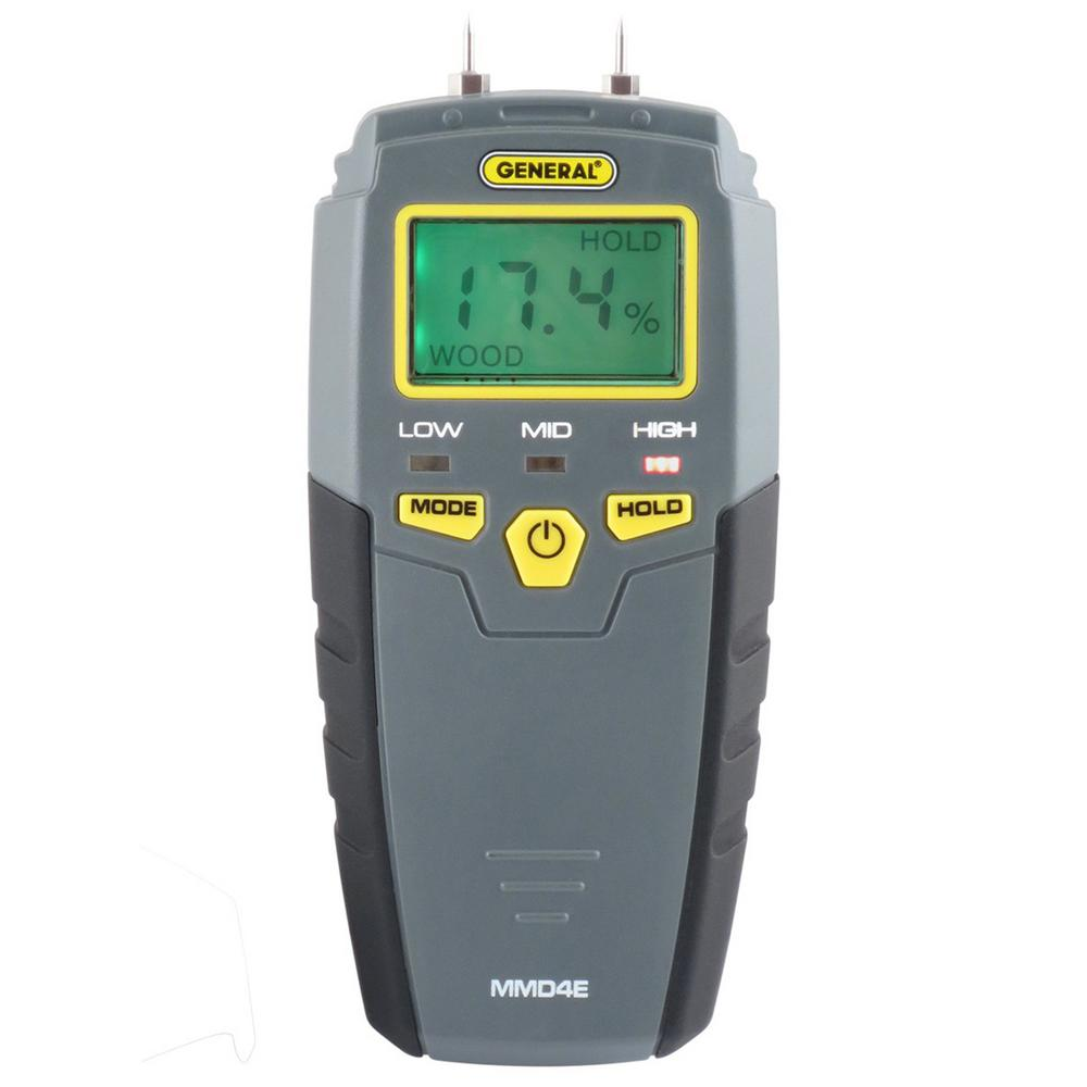 General Tools Pin Type Digital Moisture Meter With Lcd