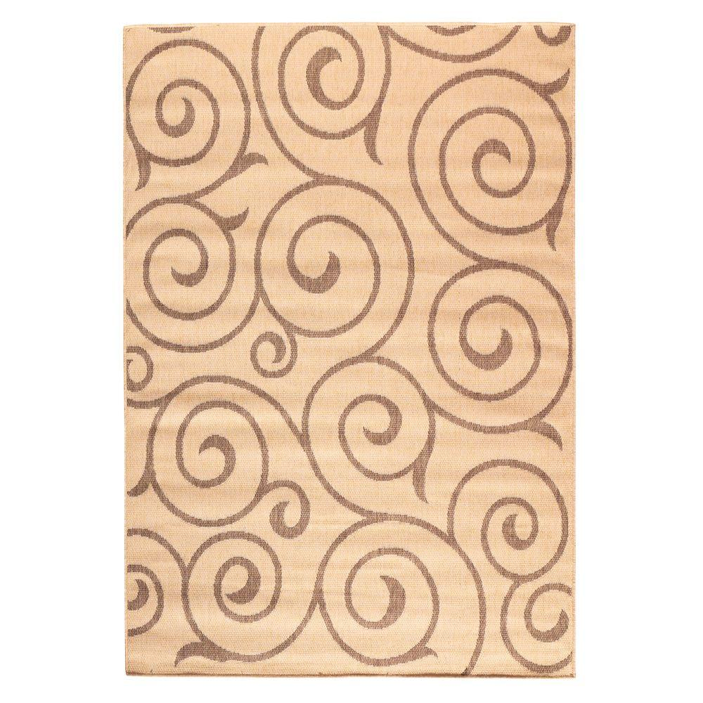 Home Decorators Collection Whirl Cocoa Natural 3 Ft 9 In
