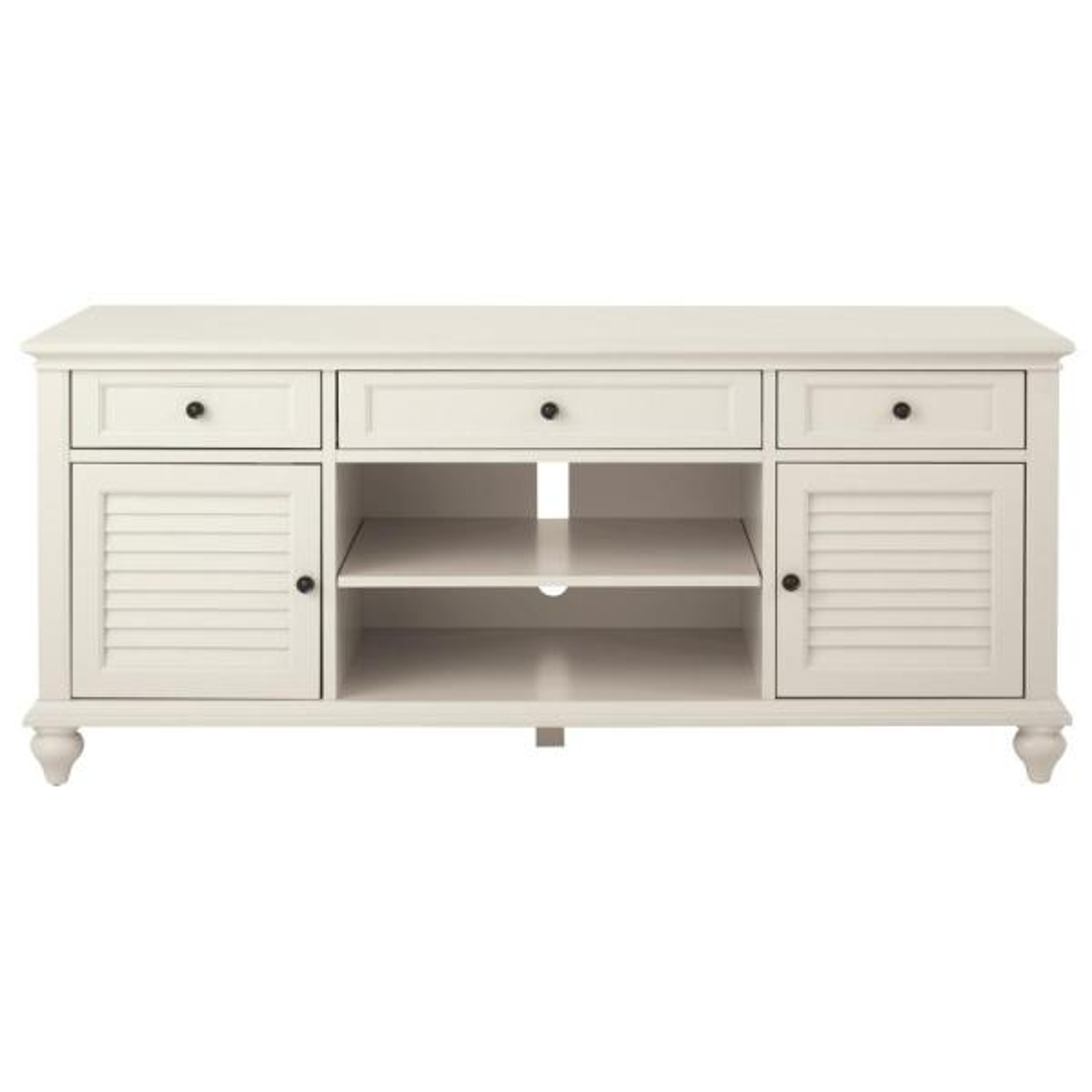 Home Decorators Collection Hamilton 26 in. Polar White TV Stand 9787800410