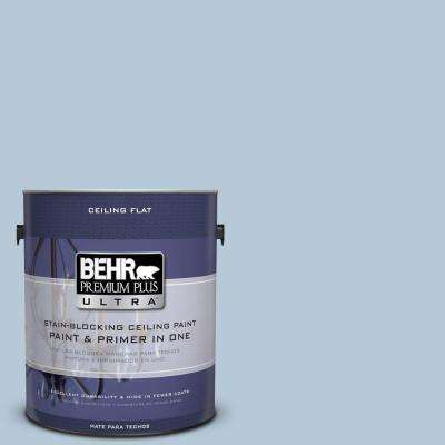 1 gal. No.UL230-13 Ceiling Tinted to Denim Light Flat Interior Paint and Primer in One