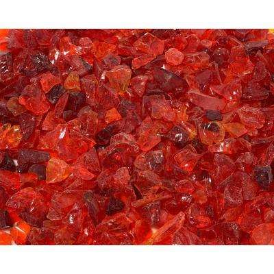 1/4 in. 25 lb. Red Landscape Fire Glass
