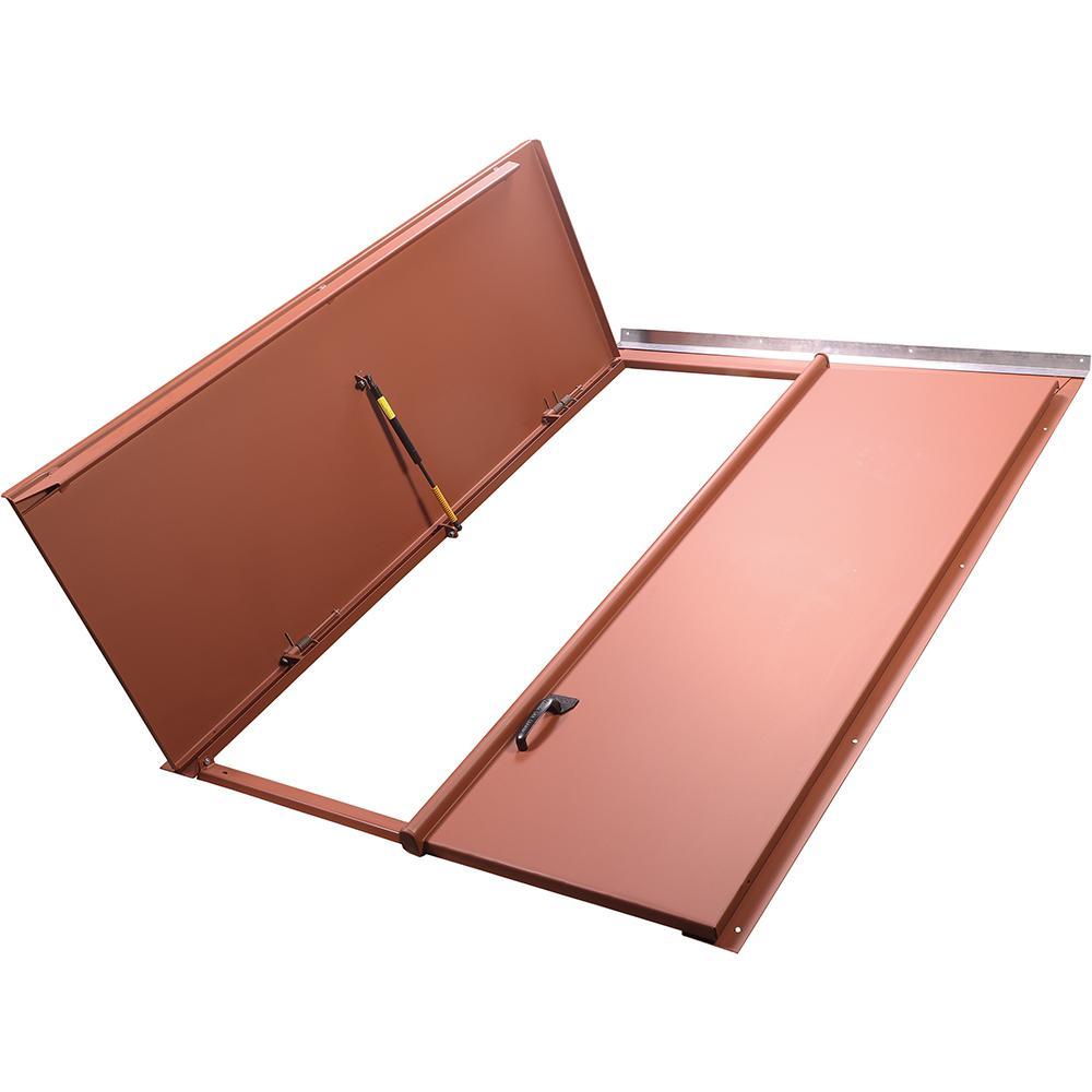 Classic 47.25 in. x 67.625 in. Red Matte Primed Steel Replacement Cellar Door