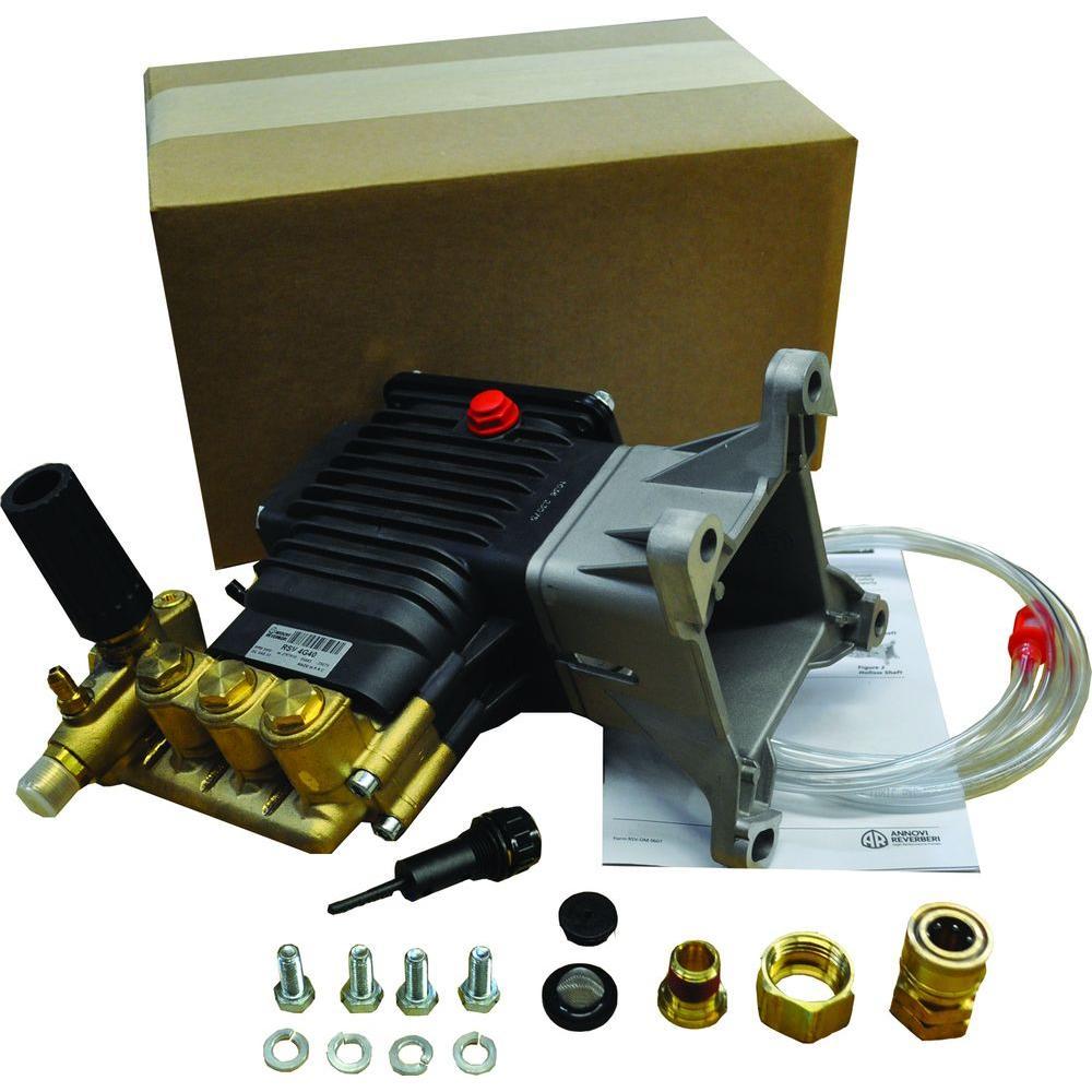 4000-PSI 4-GPM Triplex Plunger Pump