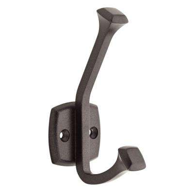 4-3/8 in. Cocoa Bronze Beveled Square Wall Hook