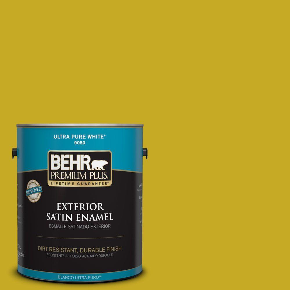 BEHR Premium Plus Home Decorators Collection 1-gal. #HDC-MD-03 Citronette Satin Enamel Exterior Paint
