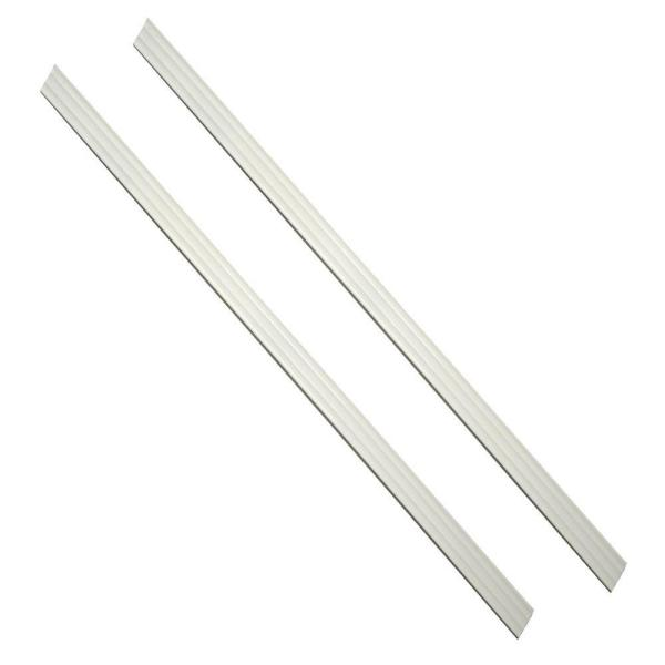 36 in. x 1.5 in. Dove White Framing Strips (2-Pack)