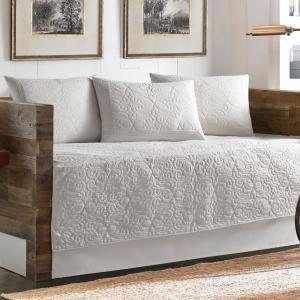 Deals on Tommy Bahama Nassau White 5-Piece Cotton Twin Daybed Set