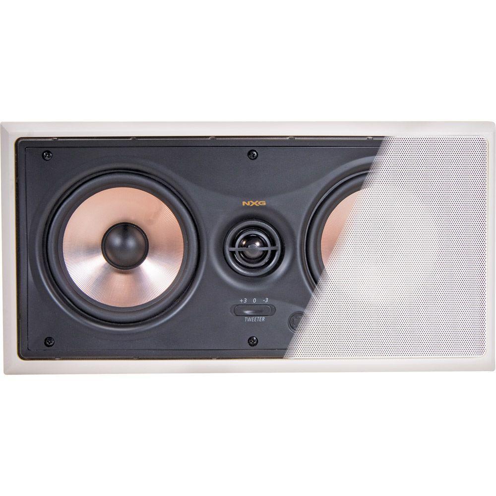 NXG Pro Series 120-Watt 5.25 ft.Video-Shielded 2-Way LCR In-Wall Mounted Speaker System-DISCONTINUED