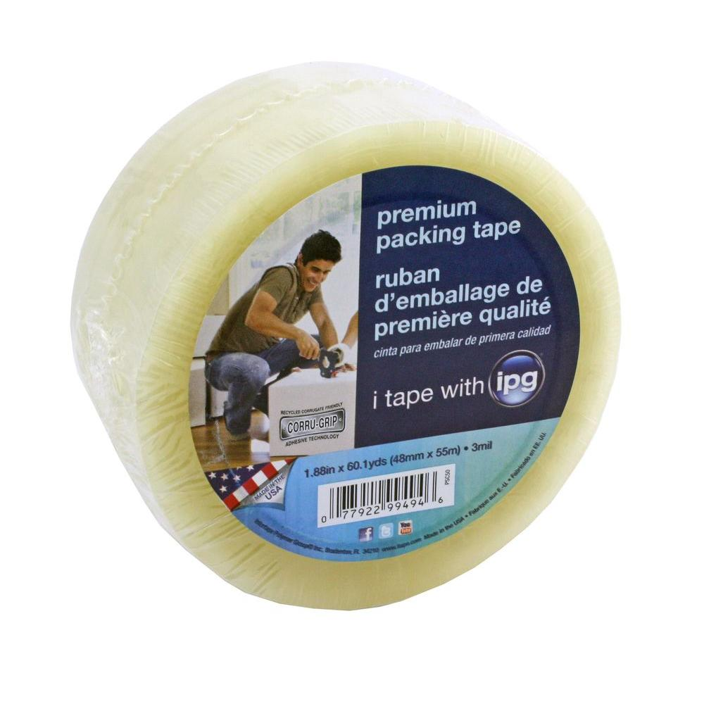 1.88 in. x 60.1 yds. Premium Packing Tape with Corrugrip
