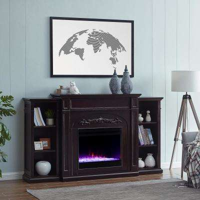 Overton Color-Changing 73 in. Electric Fireplace in Espresso