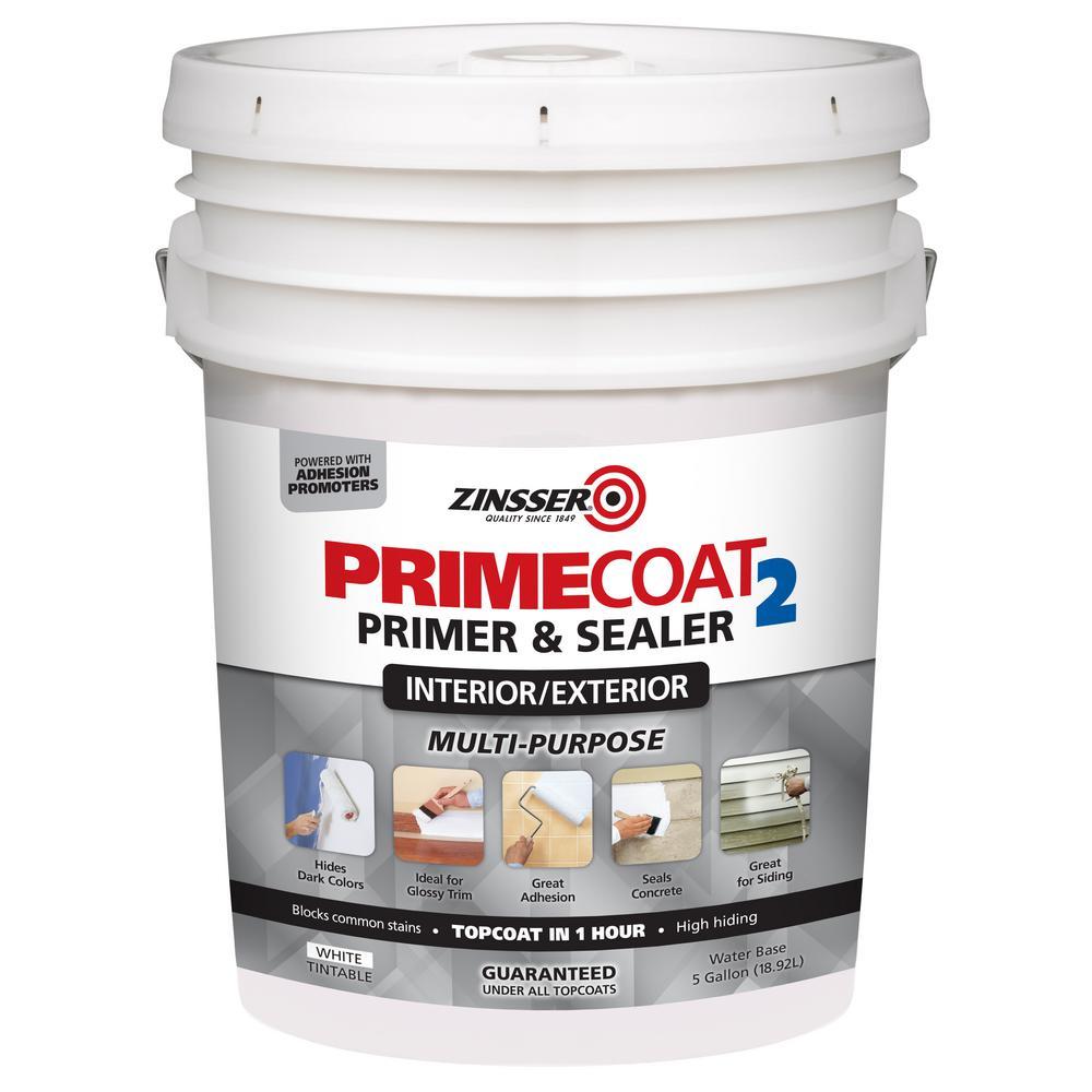 Zinsser Primecoat2 5 Gal White Water Based Interior Exterior Multi Purpose Primer Sealer
