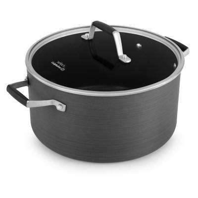 Select 8 Qt. Hard-Anodized Nonstick Stock Pot with Cover
